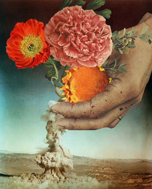 """Flowers"". Collage por Miranda Guerrero"