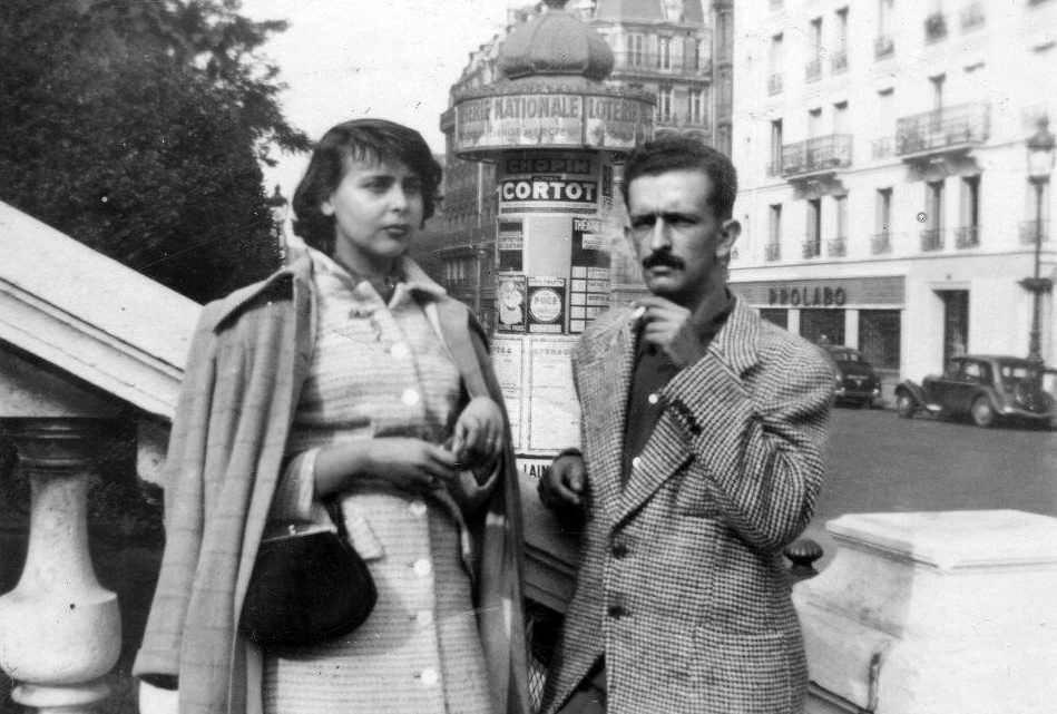 blanca y szyszlo 1949 paris Foto autor desconocido  Archivo Blanca Varela 5