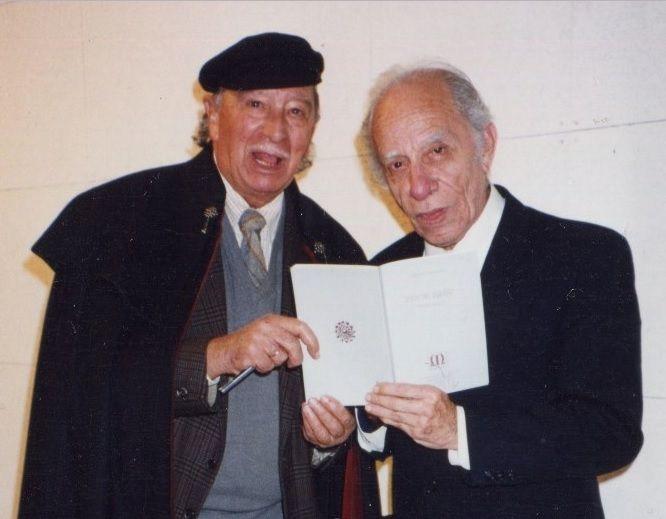 Romualdo en Salamanca (España) en ponencia sobre César Vallejo. 1992