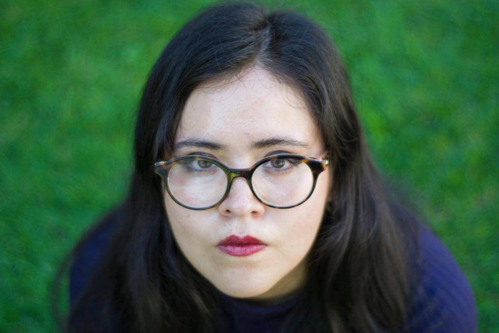 La poeta Miranda Guerrero. Foto: Gerardo Alcocer