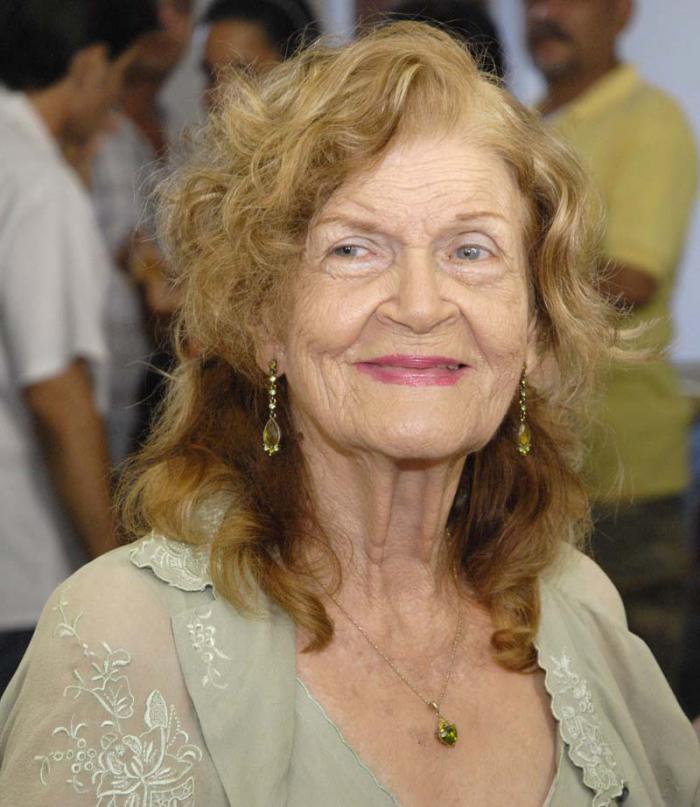 La poeta Carilda Oliver. Foto Jose M. Correa