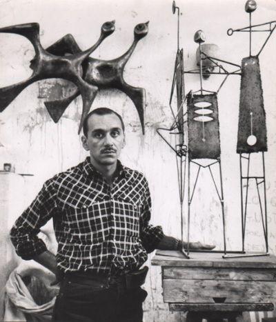 Joaquín Roca Rey en su taller.  Crédito: www.archivirocarey.it