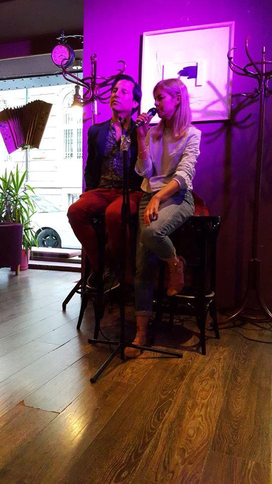 Nilton Santiago con la traductora búlgara Elitza Popova. Sofia, 2017. Foto: Silviya Zhelyazkova