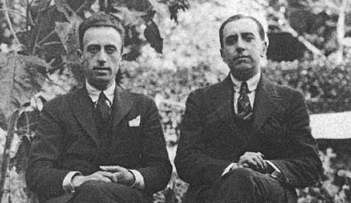 (Der.) Juan Larrea e (izq.) Vicente Huidobro.