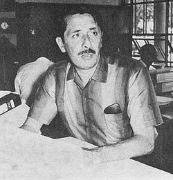 """Luis """"Cartucho"""" Miroquesada Garland, arquitecto y periodista, principal propulsor de la """"Agrupación Espacio""""."""