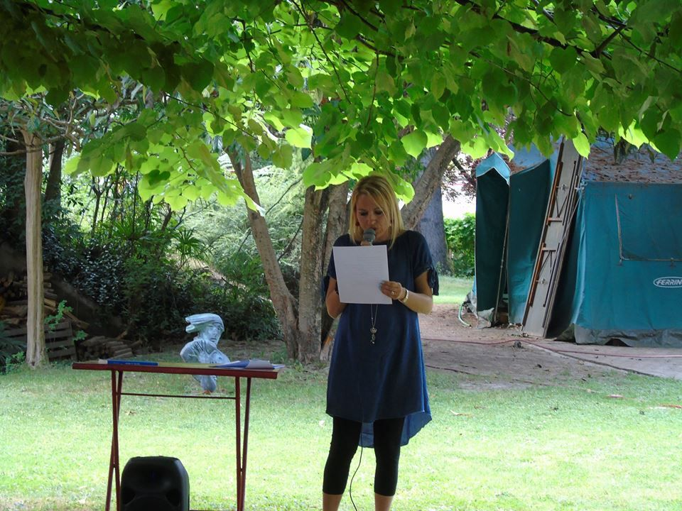 La poeta Laura Borghesi.