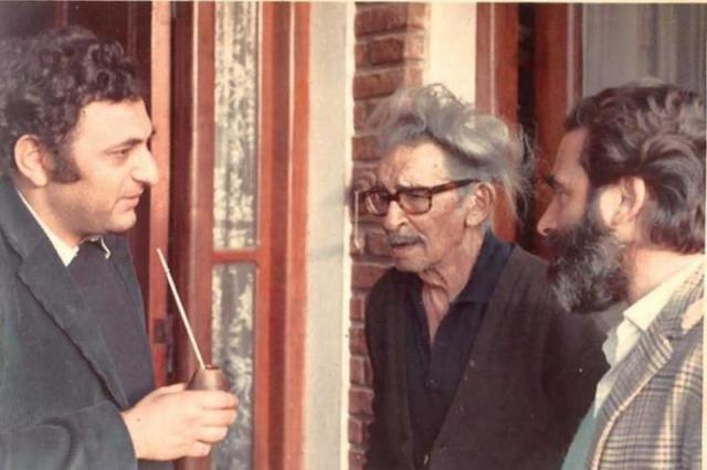 Foto de (izq. a der.) Juan Saer, Juan L. Ortiz y Hugo Gola