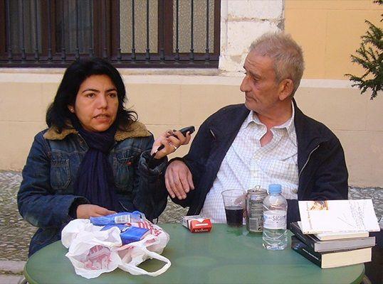 Ofelia Huamanchumo de la Cuba y Leopoldo María Panero - Palacio Ducal de los Borja en Gandía, marzo 2008