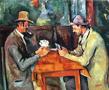 """Cuadro """"Los jugadores de cartas"""" por Paul Cézanne"""