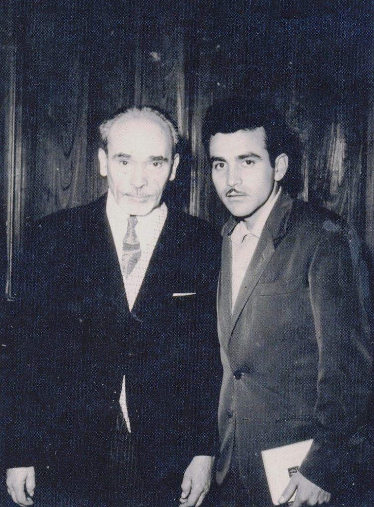 Los poetas Alberto Hidalgo y Arturo Corcuera en Lima, década de los 60's.