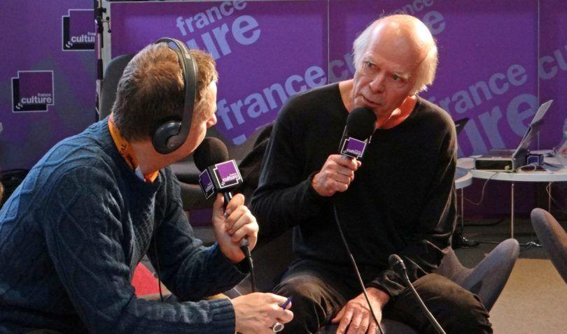 Pascal Quignard entrevistado por France Culture en el Palais de Tokyo.