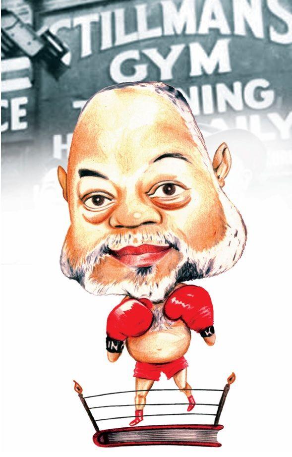 Caricatura del escritor Alexis Gómez Rosa